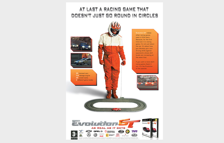 Advertisement for Evolution GT