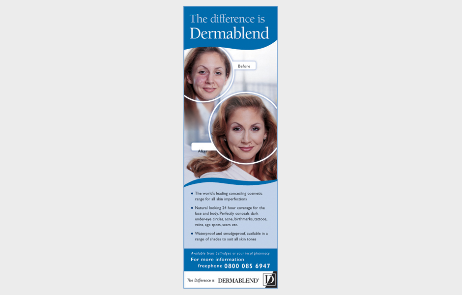 Advertisement for Dermablend