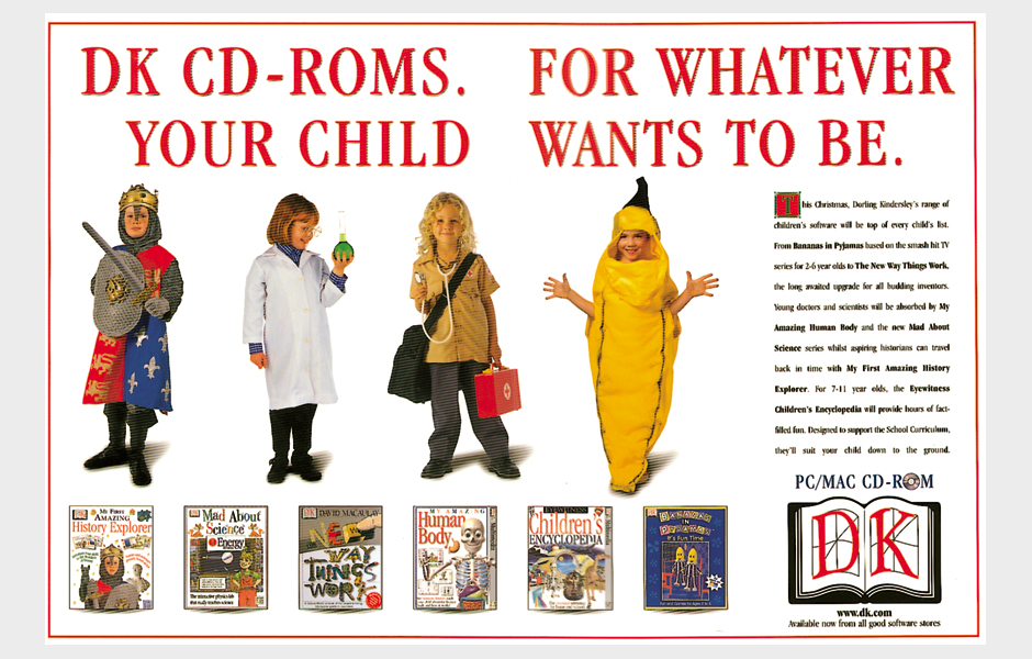 Press advertisement for Dorling Kindersley