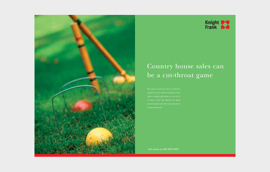Advertisement for Knight Frank 'Croquet'
