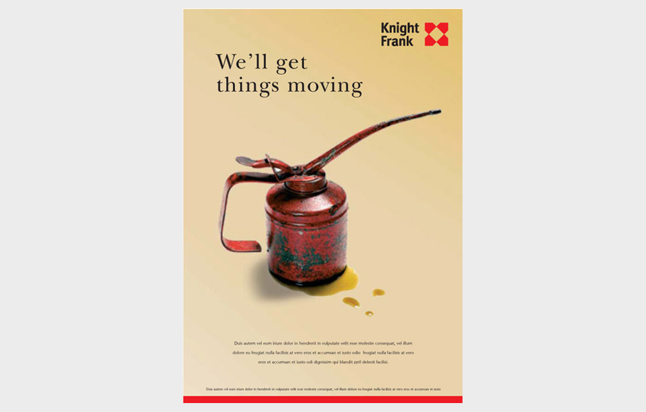 Advertisement for Knight Frank 'Oil'