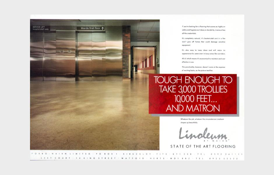 Advertisement for Linoleum 'Matron'