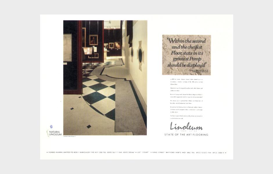 Advertisement for Linoleum