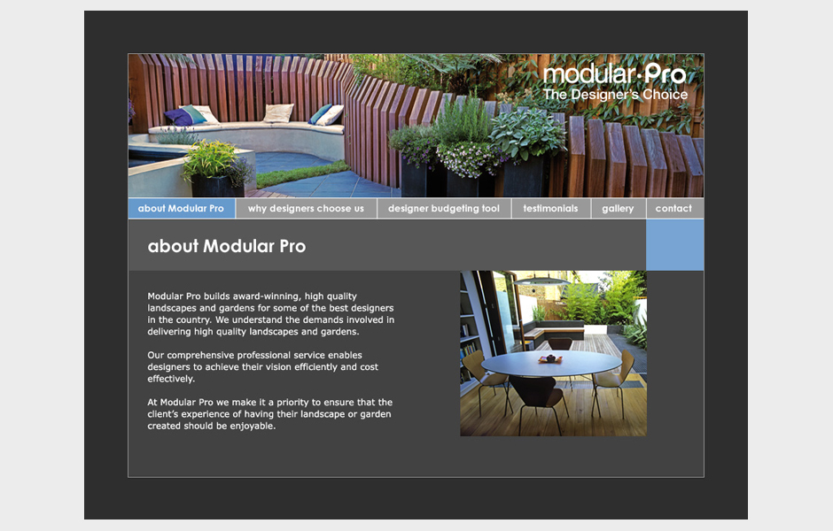 Modular Garden website