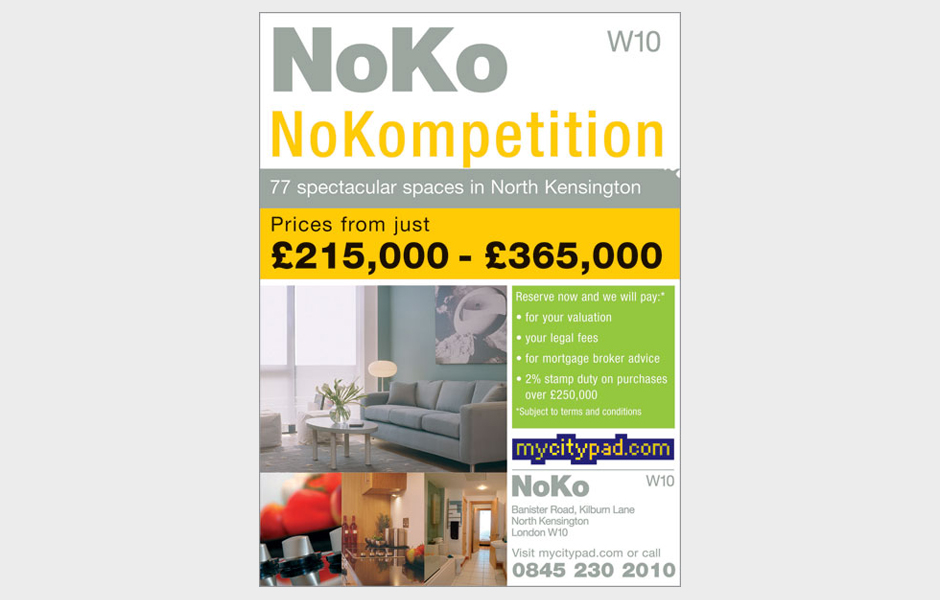 Press advertisement for NoKo