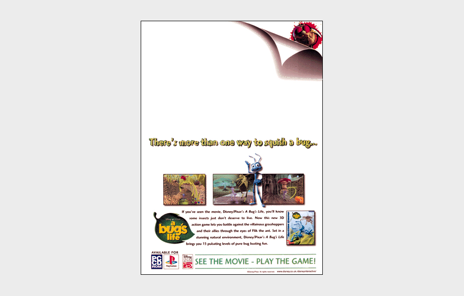 Press advertisement for Disney A Bug's Life