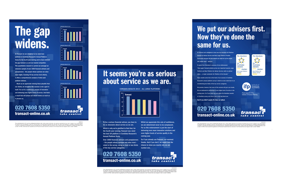 Advertisements for Transact