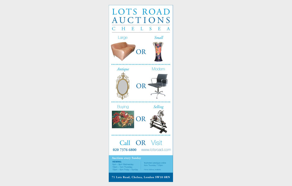 lots road vertical ad